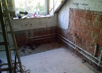 Bad Neugestaltung, während der Umbauphase
