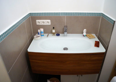 Badezimmer Neugestaltung, fertig